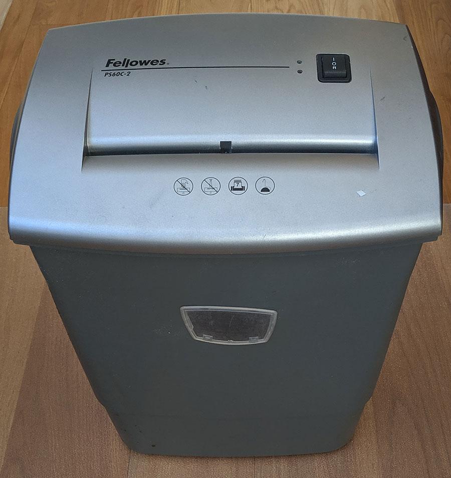 Fellowes paper shredder PS60C-2