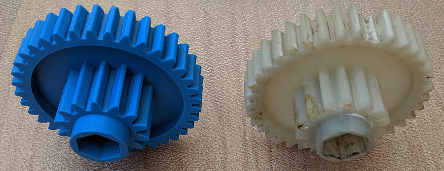 Replacement cog for Fellowes paper shredder PS60C-2